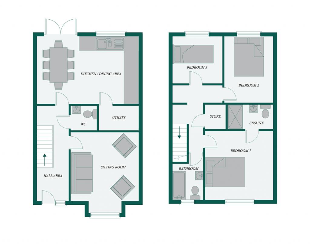Floor plan for the Ash, Cluain Dara