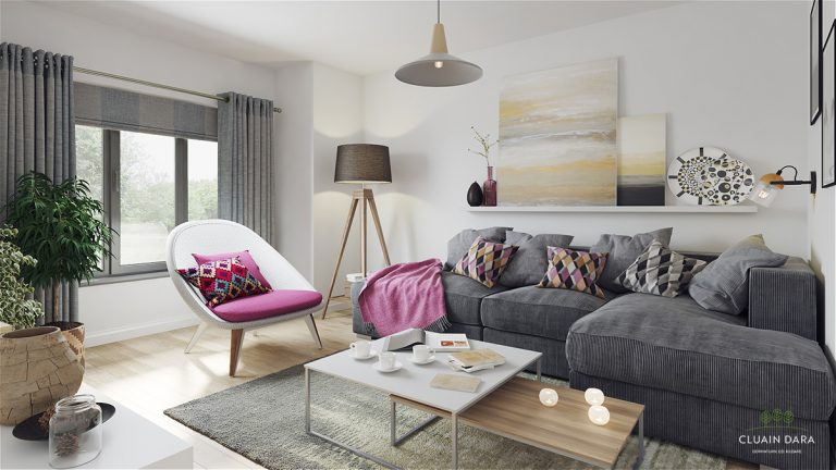 Spacious living room, Cluain Dara, Derrinturn
