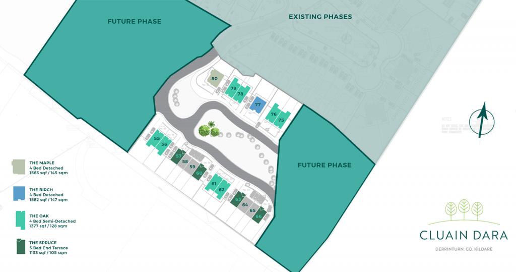 Site Map Cluain Dara Phase 4